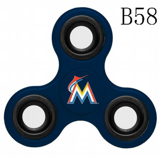 MLB Miami Marlins 3-Way Fidget Spinner-B58