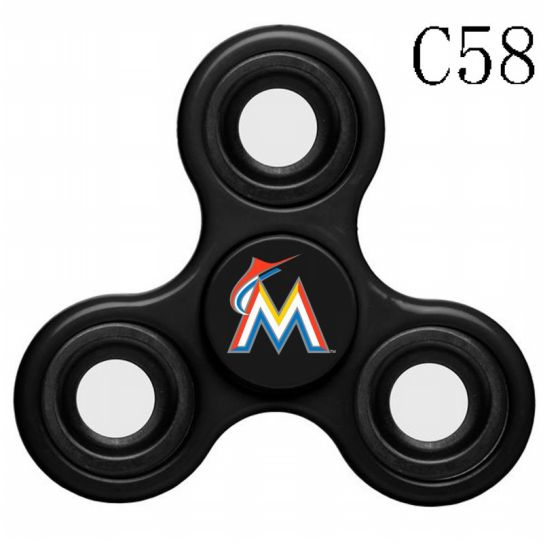 MLB Miami Marlins 3-Way Fidget Spinner-C58