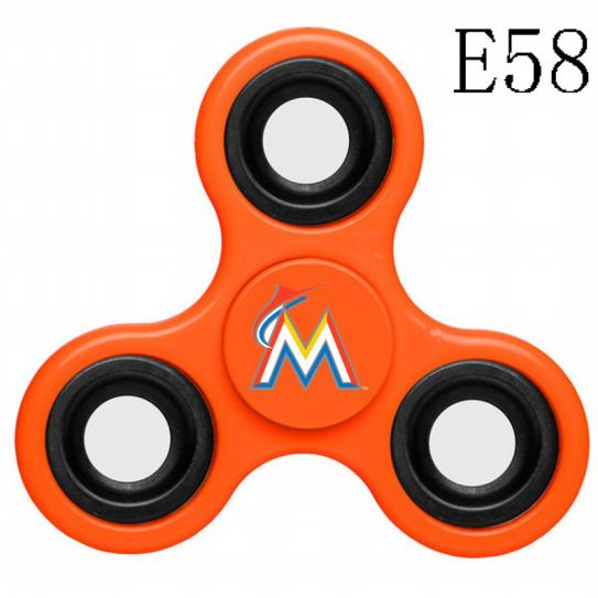 MLB Miami Marlins 3-Way Fidget Spinner-E58