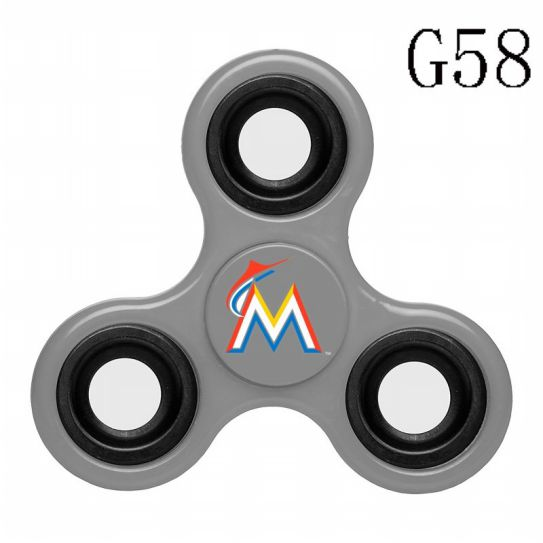 MLB Miami Marlins 3-Way Fidget Spinner-G58