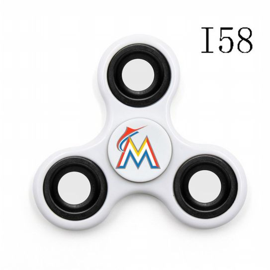 MLB Miami Marlins 3-Way Fidget Spinner-I58