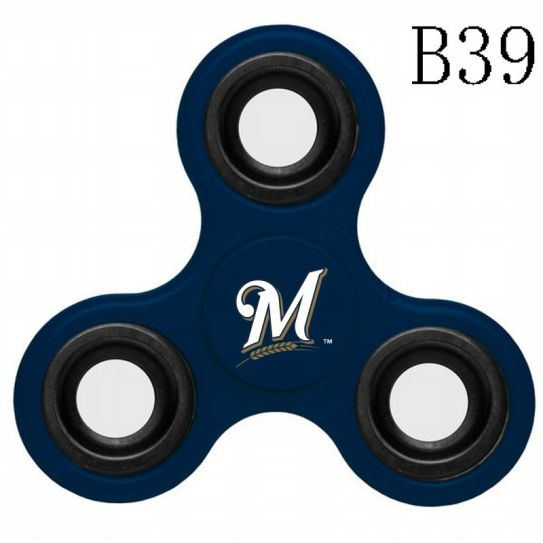 MLB Milwaukee Brewers 3-Way Fidget Spinner-B39