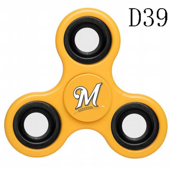 MLB Milwaukee Brewers 3-Way Fidget Spinner-D39