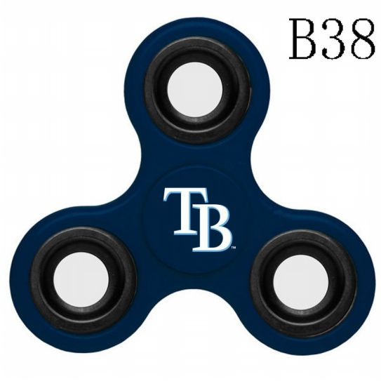 MLB Tampa Bay Rays 3-Way Fidget Spinner-B38