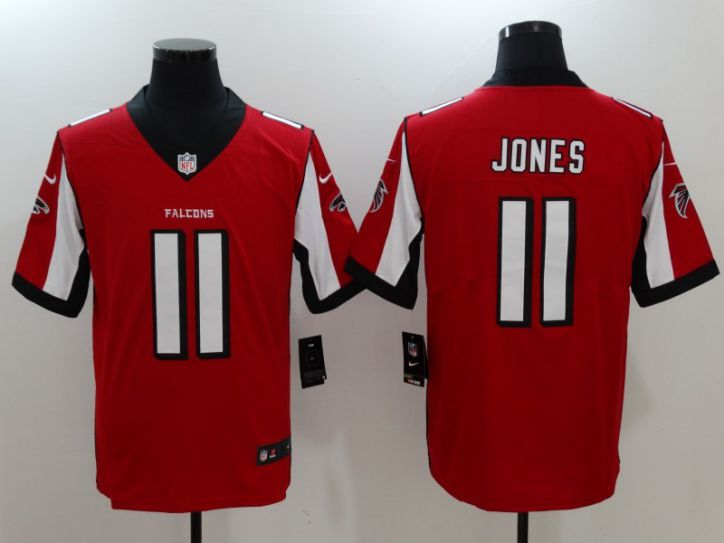Men Atlanta Falcons 11 Jones Red Nike Vapor Untouchable Limited NFL Jersey