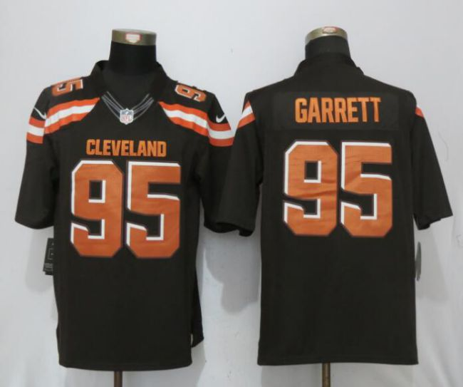 Men Cleveland Browns 95 Garrett Brown Nike Draft Pick Limited NFL Jerseys