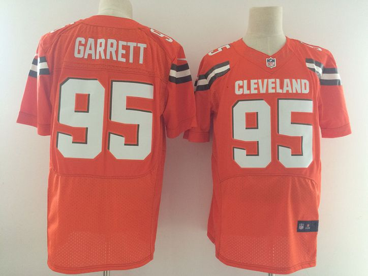 Men Cleveland Browns 95 Garrett Orange Nike Elite Jerseys