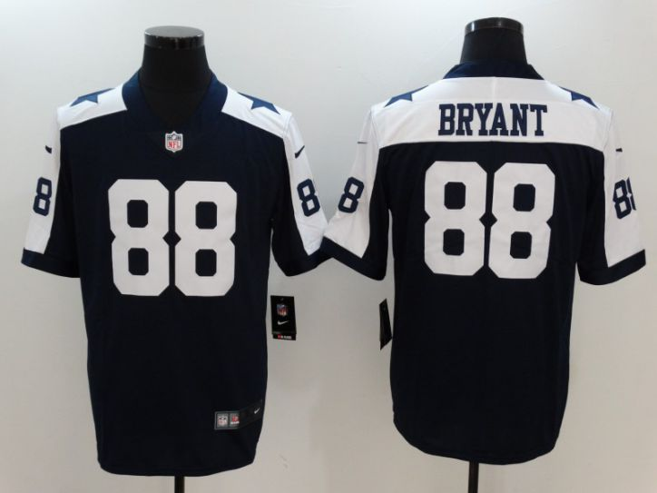 Men Dallas Cowboys 88 Bryant Blue Thanksgiving Nike Vapor Untouchable Limited NFL Jerseys