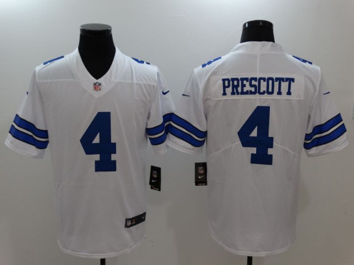 Men Dallas cowboys 4 Prescott White Nike Vapor Untouchable Limited NFL Jerseys