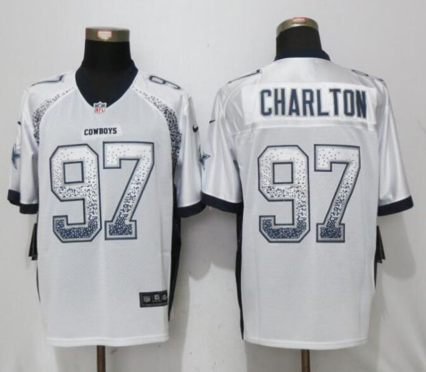 Men Dallas cowboys 97 Charlton White Drift Fashion Nike Elite NFL Jerseys