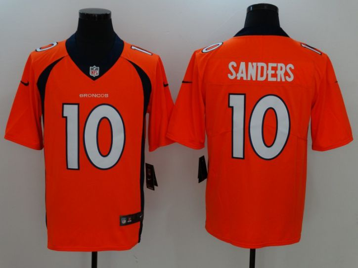 Men Denver Broncos 10 Sanders Orange Nike Vapor Untouchable Limited NFL Jersey