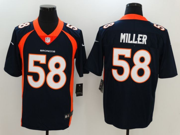 Men Denver Broncos 58 Miller Blue Nike Vapor Untouchable Limited NFL Jersey