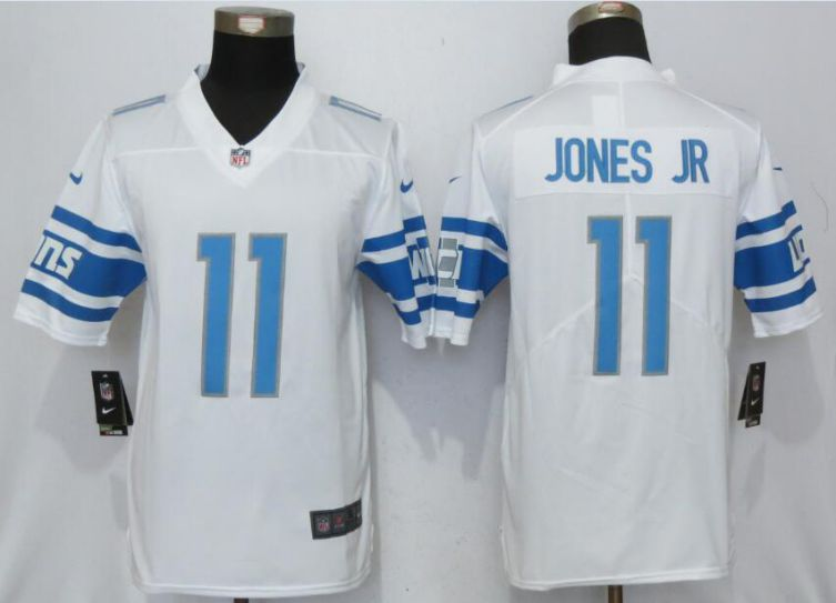 Men Detroit Lions 11 Jones jr White Vapor Untouchable New Nike Limited Player