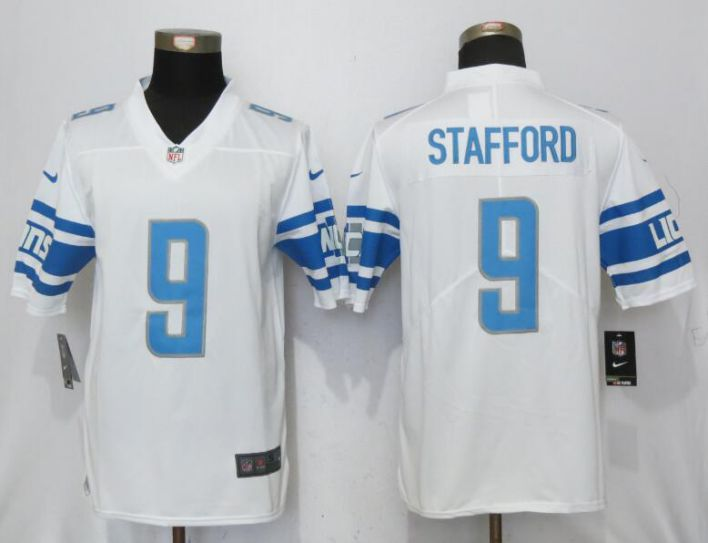 Men Detroit Lions 9 Stafford White Vapor Untouchable Limited Player NFL Jerseys
