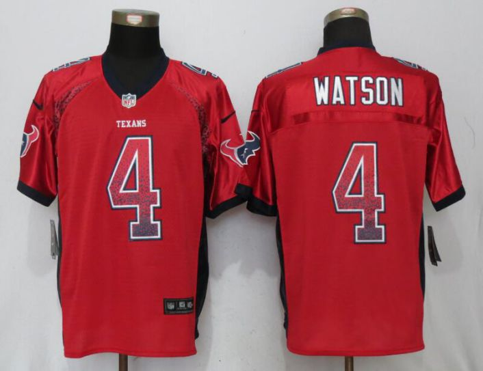 Men Houston Texans 4 Watson Drift Fashion Red New Nike Elite NFL Jerseys
