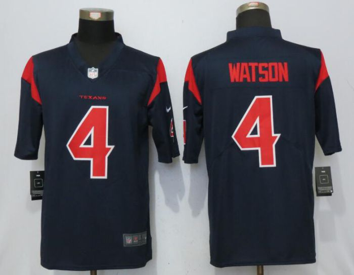 Men Houston Texans 4 Watson Navy Blue Color Rush Nike Men Limited NFL Jersey