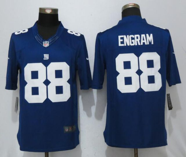 Men New York Giants 88 Engram Blue Nike Limited NFL Jerseys