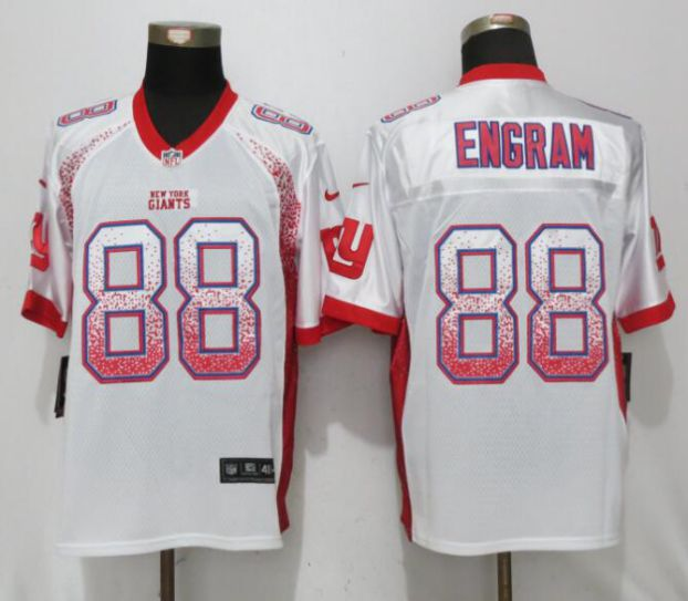 Men New York Giants 88 Engram White Drift Fashion Nike Elite NFL Jerseys