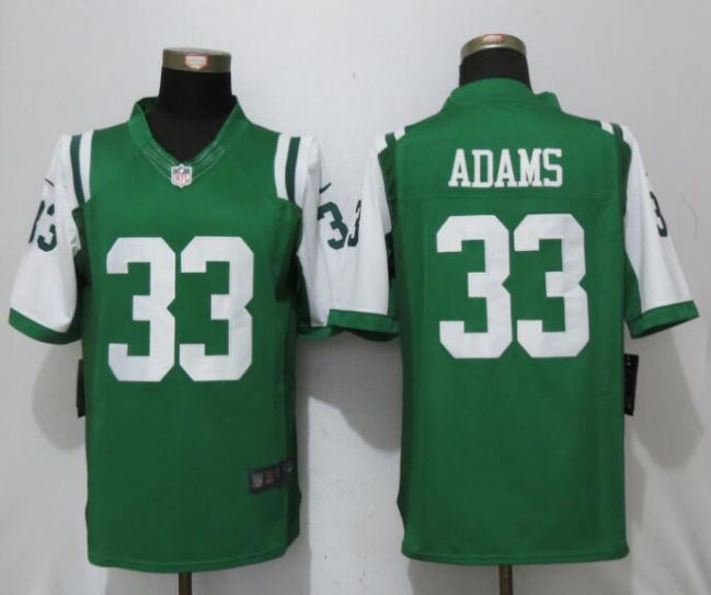 Men New York Jets 33 Adams Green Nike Limited NFL Jerseys
