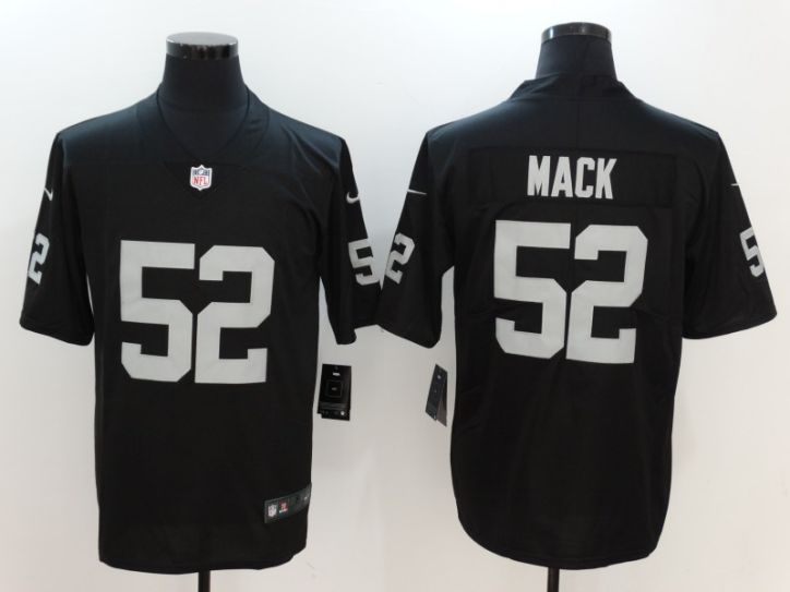 Men Oakland Raiders 52 Mack Black Nike Vapor Untouchable Limited NFL Jersey