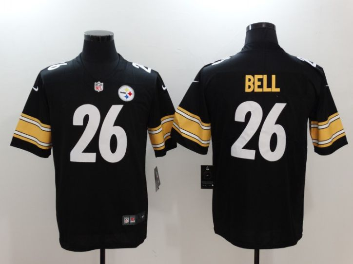 Men Pittsburgh Steelers 26 Bell Black Nike Vapor Untouchable Limited NFL Jersey