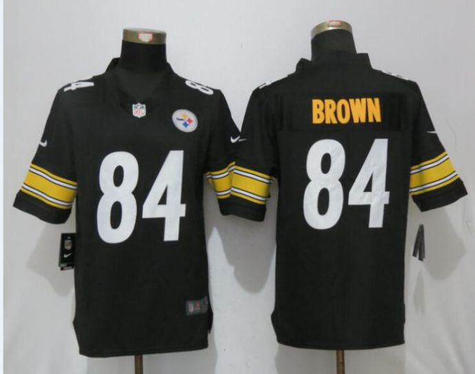 Men Pittsburgh Steelers 84 Brown Black Nike Vapor Untouchable Limited NFL Jerseys
