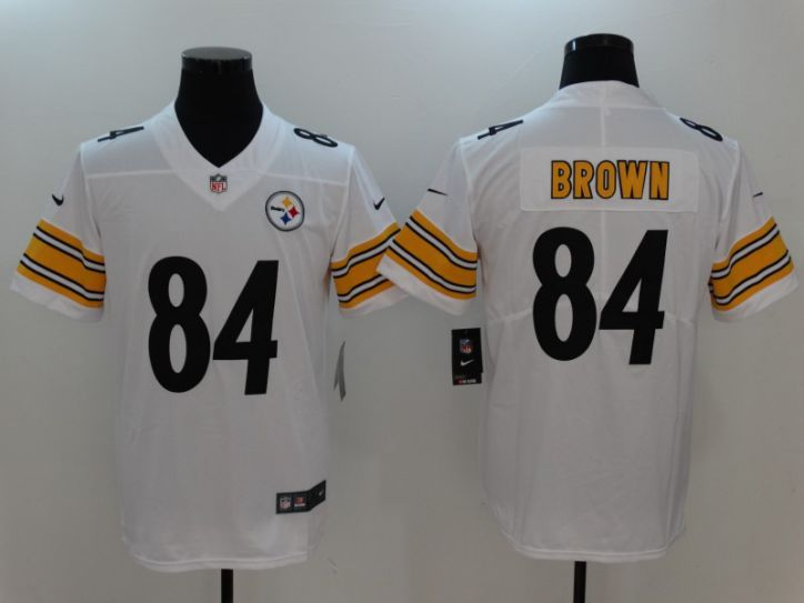 Men Pittsburgh Steelers 84 Brown White Nike Vapor Untouchable Limited NFL Jerseys