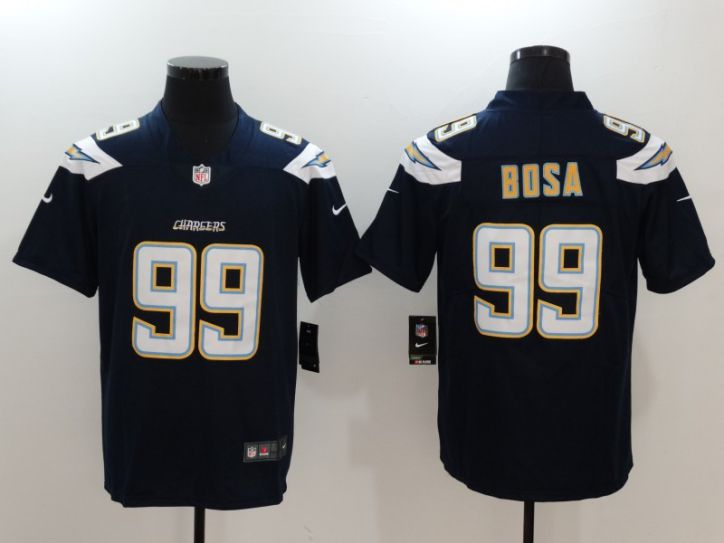 Men Los Angeles Chargers 99 Bosa Blue Nike Vapor Untouchable Limited NFL Jerseys