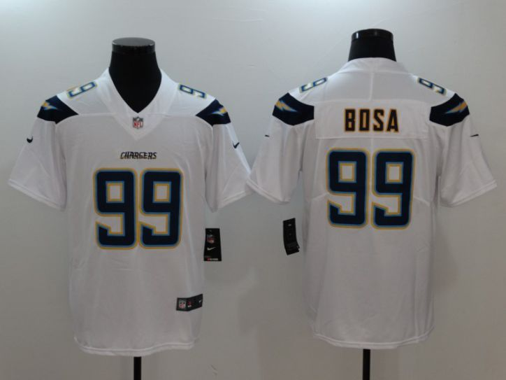 Men Los Angeles Chargers 99 Bosa White Nike Vapor Untouchable Limited NFL Jerseys