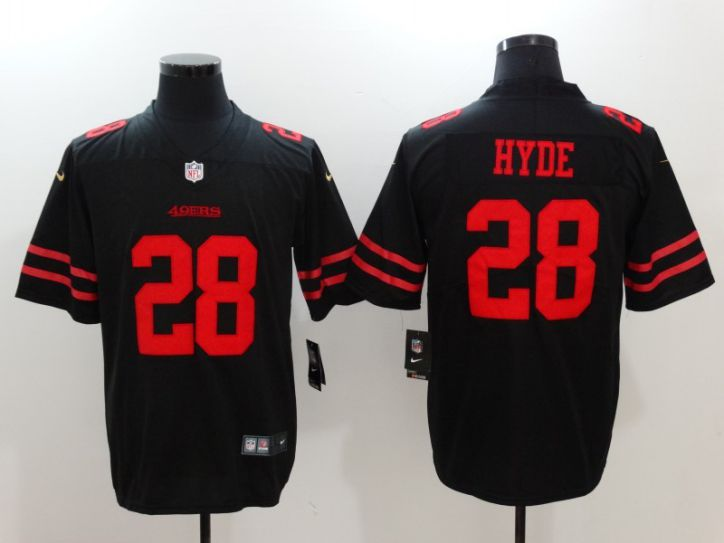 Men San Francisco 49ers 28 Hyde Black Nike Vapor Untouchable Limited NFL Jersey
