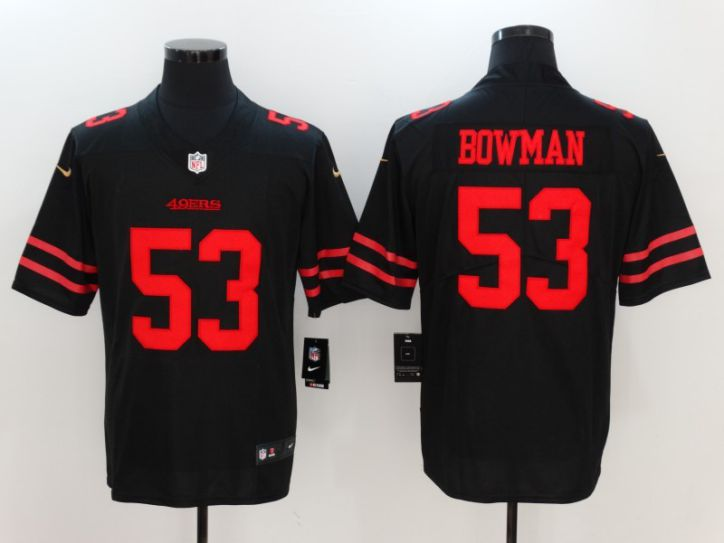 Men San Francisco 49ers 53 Bowman Black Nike Vapor Untouchable Limited NFL Jersey