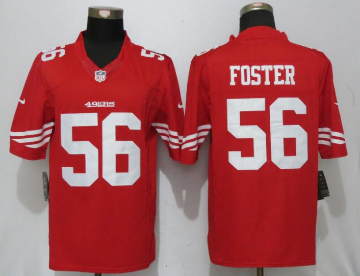 Men San Francisco 49ers 56 Foster Red Nike Limited NFL Jerseys
