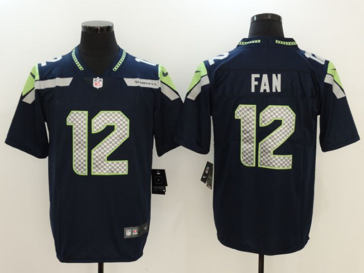 Men Seattle Seahawks 12 Fan Blue Nike Vapor Untouchable Limited NFL Jersey