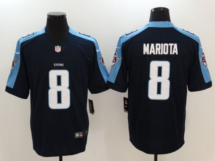 Men Tennessee Titans 8 Mariota Black Nike Vapor Untouchable Limited NFL Jerseys