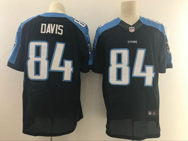 Men Tennessee Titans 84 Davis Black Nike Elite NFL Jerseys