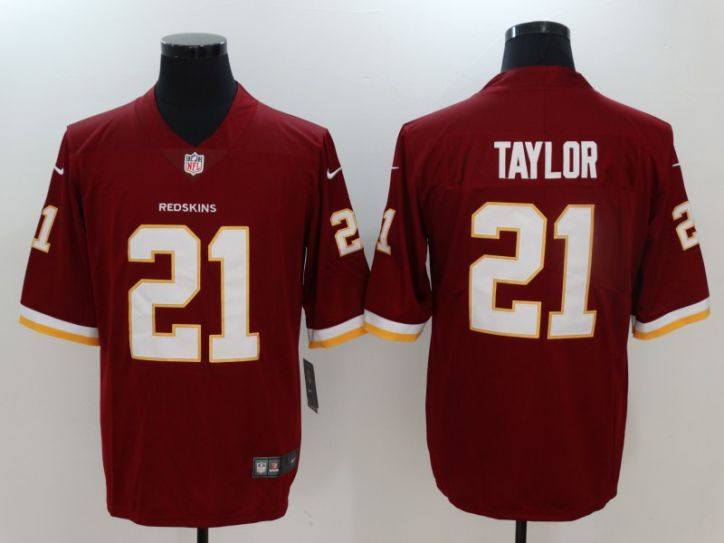 Men Washington Red Skins 21 Taylor Red Nike Vapor Untouchable Limited NFL Jerseys