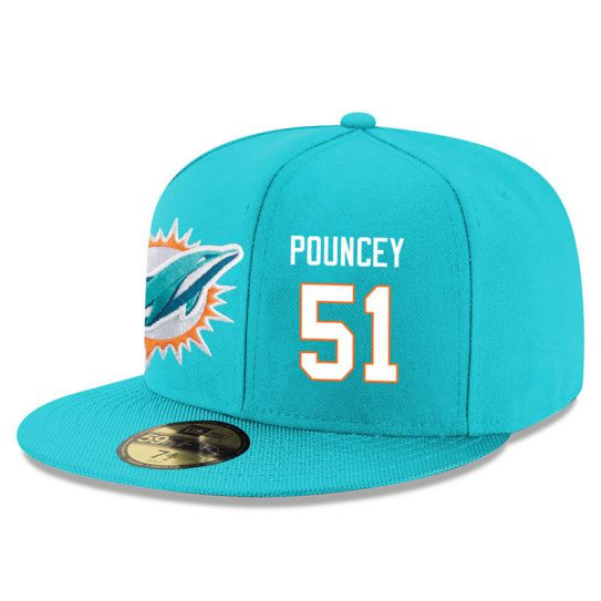 Miami Dolphins 51 Pouncey Green NFL Hat