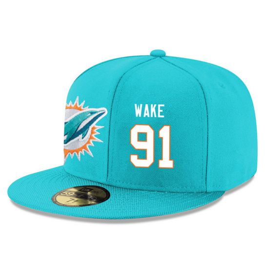 Miami Dolphins 91 Wake Green NFL Hat