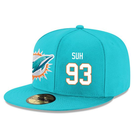 Miami Dolphins 93 Suh Green NFL Hat