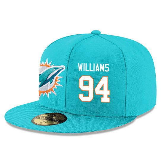 Miami Dolphins 94 Williams Green NFL Hat