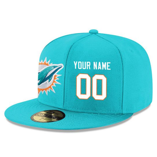 Miami Dolphins Custom Green NFL Hat