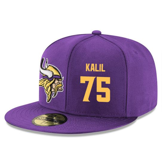 Minnesota Vikings 75 Kalil Purple NFL Hat