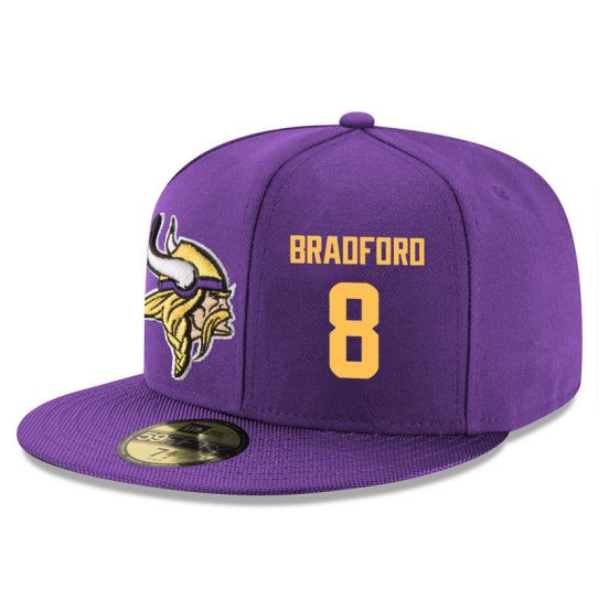 Minnesota Vikings 8 Braoforo Purple NFL Hat