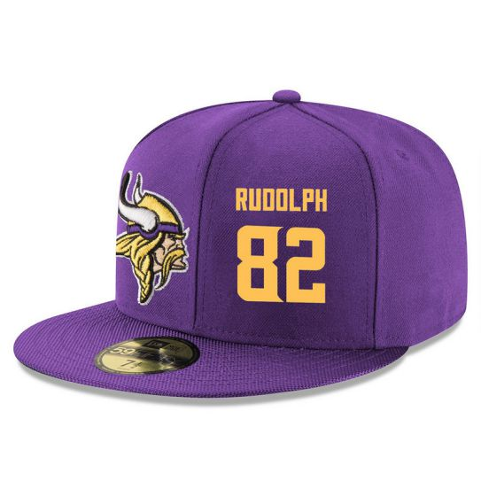 Minnesota Vikings 82 Rudolph Purple NFL Hat