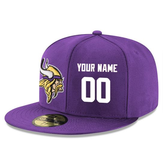 Minnesota Vikings Custom Purple NFL Hat