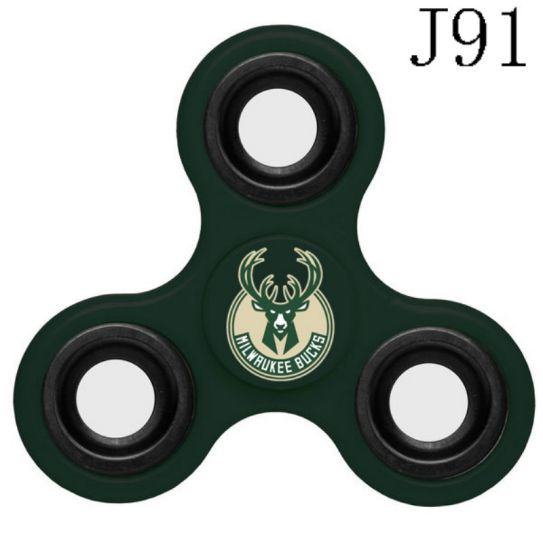 NBA Milwaukee Bucks 3-Way Fidget Spinner J91
