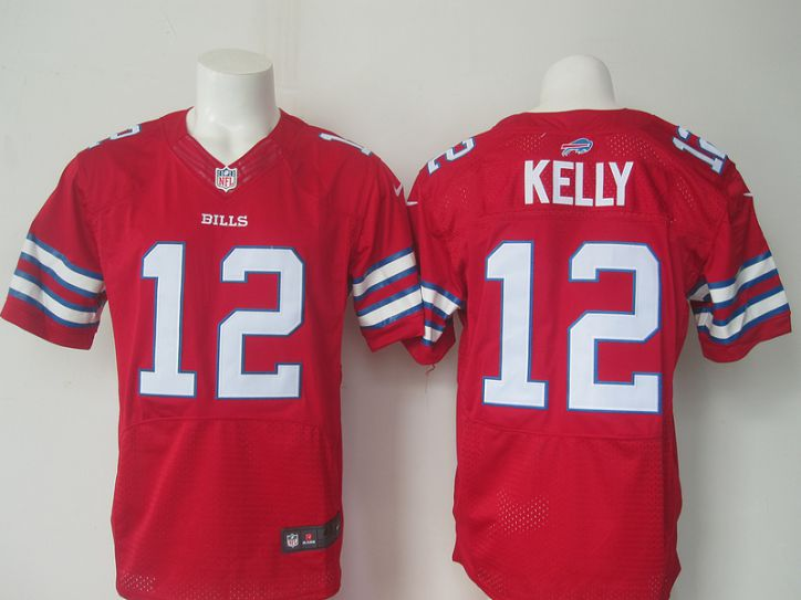 NFL Buffalo Bills 12 Kelly red Men Nike Elite Jerseys