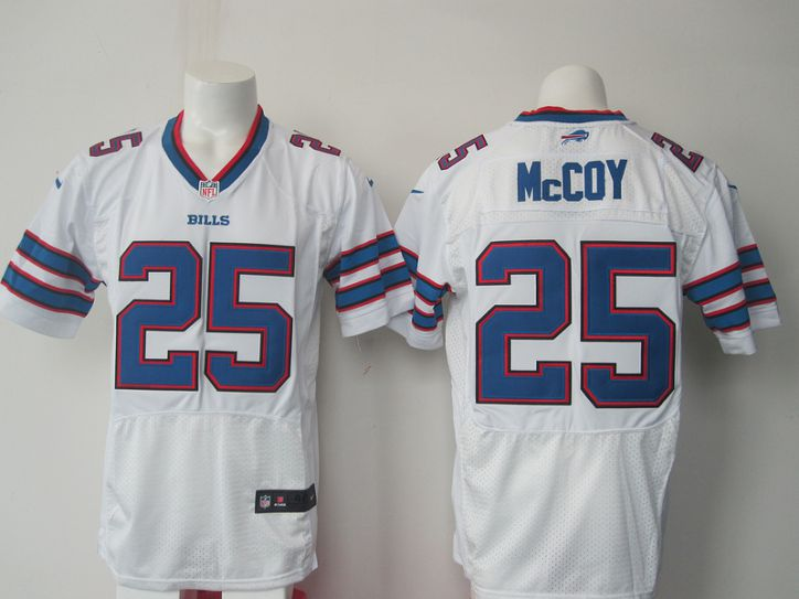 NFL Buffalo Bills 25 McCoy White Nike Elite jerseys