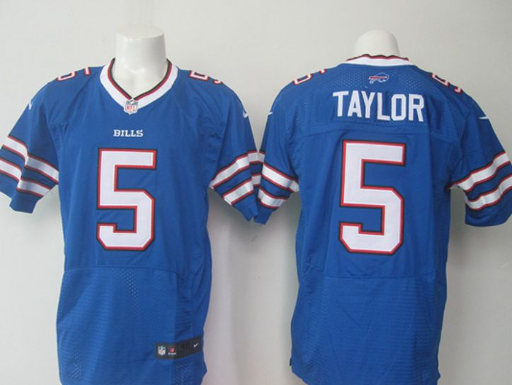 NFL Buffalo Bills 5 Taylor Blue elite jerseys