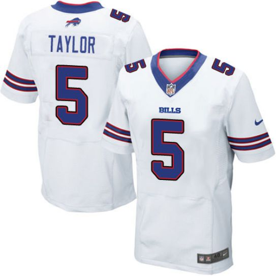 NFL Buffalo Bills 5 Taylor white elite jerseys